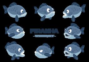 Piranha Cartoon Vektor