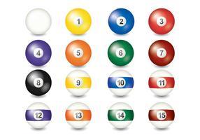 9 boll vektor samling