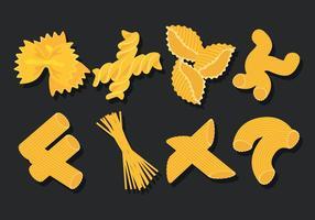 Makkaroni-Icons gesetzt vektor