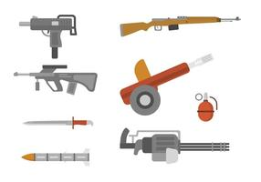 Plana vapenvektorer vektor