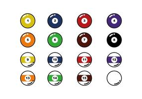 Gratis Biljard Ball Line Icon Vector
