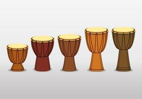 Afrikanische Djembe Trommel auf weißem Hintergrund vektor