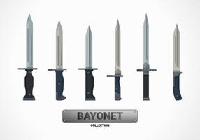 Bajonette flache Vektor-Illustration Sammlung vektor