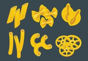 Macaroni Vektor Icons