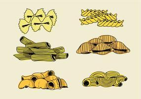 Makkaroni Zutaten Hand gezeichnet Vektor-Illustration
