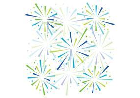 Blå fyrverkerier bakgrund vektor