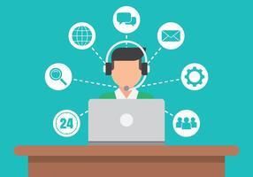 Inställningar för Call Center Service Icons