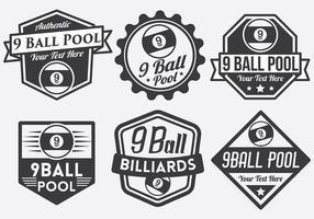 9 Ball Vektor Abzeichen