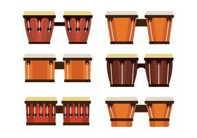 bongo vektor ikoner uppsättning