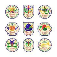 mardi gras klistermärke set
