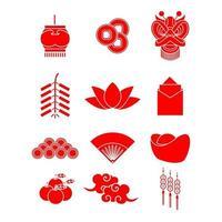 kinesiskt nyårsfestklistermärke vektor