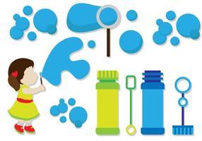 Glückliches Kind Blasen Blasen Vektoren