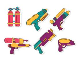 Flache Wasserpistole Pistole vektor