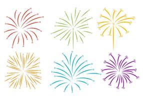 Feuerwerk Weißer Hintergrund Vektor