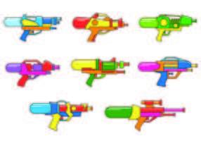 Set von Watergun-Vektoren vektor