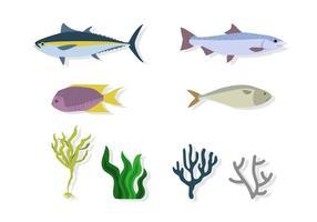 platta havsmiljövektorer