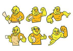Gratis Parrot Mascot Vector
