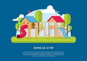 Dschungel-Gym-Schablone Freier Vektor