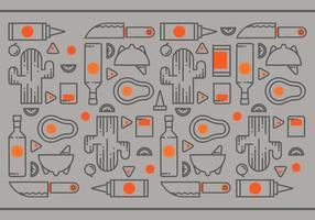 Mexikanische traditionelle Nahrung und Schleifen Werkzeuge Vektor
