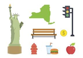 Flat New York Vektoren