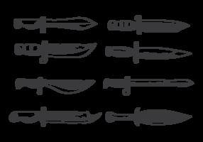 Handdragen Bayonet vektor