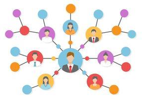 Gratis referens nätverksvektor