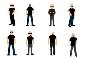 Free Standing Bouncer / Bodyguards Vektor