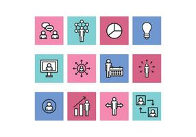 Umrissene Business Icons vektor