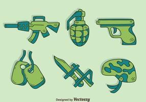 Handdragen militär element vektor