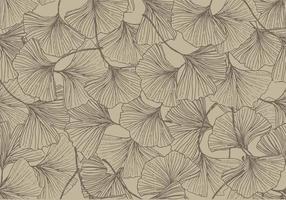 Ginkgo Vintage Farbe Nahtlose Muster Vektor