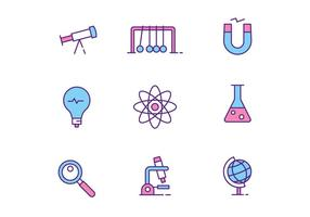 Vetenskap ikoner vektor