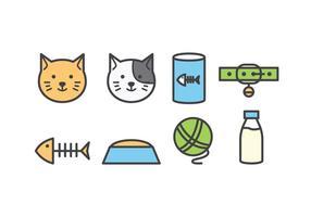 katt ikonuppsättning