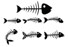 Fishbone vektor uppsättning