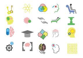 Kostenlose Psychologe Icons Vektor