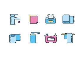 Hygien och Rengöring Ikon Vector Set