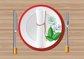 Rolltuch Serviette oder Serviette auf Holzhintergrund für Weihnachten vektor