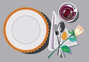 Restaurant Einstellung Hintergrund Vektor