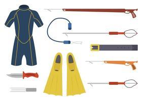 Flache Speerfisch-Vektoren
