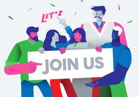 Kreative Büroangestellte Feiern Vektor flache Illustration