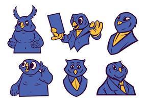 Gratis Uggla Mascot Vector