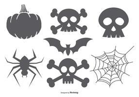 Halloween vektor former samling