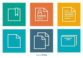 Färgrik dokument ikoner samling