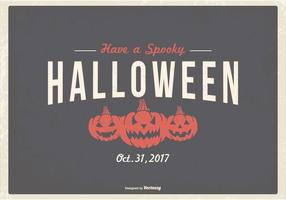 Retro typografisk Halloween illustration