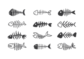 Fishbone Icons Vektor