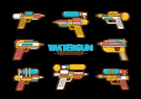 Watergun Icons Vektor