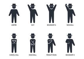 Schiedsrichter Handzeichen vektor