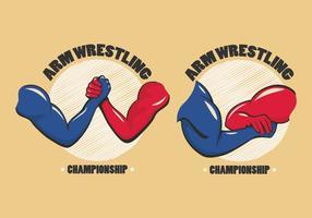 Arm Wrestling Abzeichen Vektor