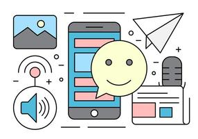 Gratis mobil applikations ikoner vektor