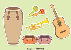 Trevlig musikinstrumentvektor