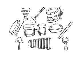 Gratis Traditionell Musik Ikon Hand Dragad Vektor